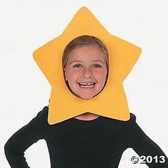 Star Mask - make flower masks like this? Fleece, hot glue to reinforce, elastic? Like the stars in the movie Nativity!