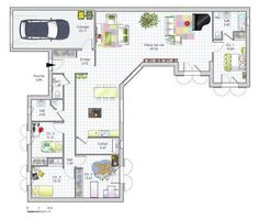 """Résultat de recherche d'images pour """"plan de maison 150m2 4 chambres"""""""
