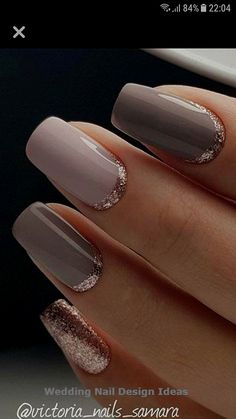 Try some of these designs and give your nails a quick makeover, gallery of unique nail art designs for any season. The best images and creative ideas for your nails. French Manicure Gel, French Nails, Gold Manicure, Gold Nails, Pink Nails, French Pedicure, Sparkle Nails, Nail Art Designs, Elegant Nail Designs