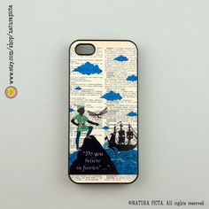 Peter Pan do you believe quote  iphone case 4/4S- iphone case 5/5S -Galaxy S4 case,plastic case- quote cases -Design by Natura Picta-NP005 on Etsy, $23.33 AUD