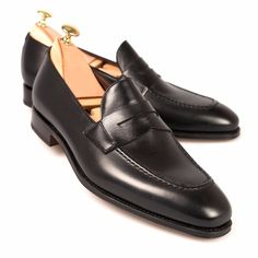 Handmade Office Shoes Black Leather Trendy Fashion Men Penny Loafer Fashionable Shoes sold by Mr. Shop more products from Mr.Leather on Storenvy, the home of independent small businesses all over the world. Dress Loafers, Loafer Shoes, Loafers Men, Men's Shoes, Dress Shoes, Shoes Men, Leather Men, Black Leather, Soft Leather