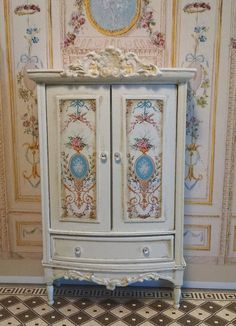Marie Antoinette French Style Armoire Miniature by FrenchVellum