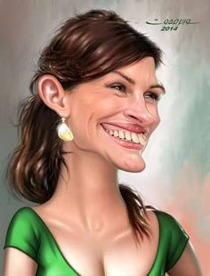 Julia Roberts by wael safwat Julia Roberts, Cartoon Faces, Funny Faces, Cartoon Art, Caricature Artist, Caricature Drawing, Funny Caricatures, Celebrity Caricatures, Famous Cartoons