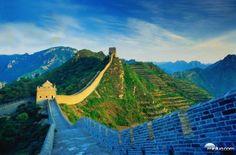 A Grande Muralha da China,patrimônio da UNESCO.8850 km entre o deserto de Gobi,a Mongólia e o Mar Amarelo.