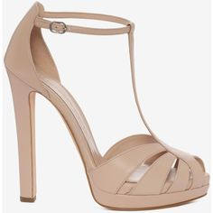 Alexander McQueen Cuba Calf Leather Chunky Sandal ($905) ❤ liked on Polyvore featuring shoes, sandals, patchouli, high heel shoes, alexander mcqueen, peep toe shoes, calf leather shoes and high heel peep toe shoes