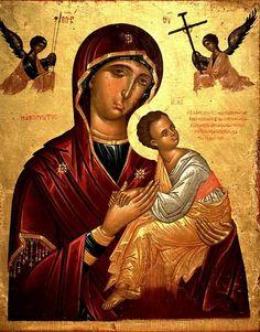 Страстная икона Божией Матери. Византийский музей в Афинах.