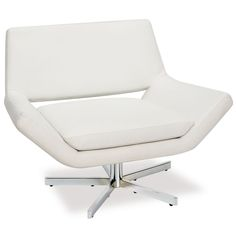 Yield Wide Chair in White Faux Leather - Avenue Six YLD5141-W32