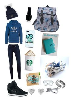 """""""school ootd 30/06/2014"""" by soolmorena ❤ liked on Polyvore featuring adidas Originals, MANGO, NIKE, Wet Seal, OBEY Clothing, OPI, Michael Kors, Tiffany & Co. and House of Harlow 1960"""