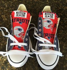 New England Patriots Football Print Converse by GoodsByGarment