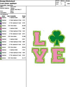 Embroidery Digital File Love Clover Applique by DixieCharmm
