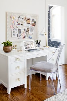 New Traditional in Baltimore | A Busy Baltimore Family Undergoes a Major Home Renovation That Fits All of Their Needs | Interior design by Stephanie Gamble Interiors | Photo by Jennifer Hughes | Kid's Room | Kid's Bedroom | Kid's Room Inspiration | Girl's Room Inspiration | Kid's Desk | Office Inspiration | Workspace Inspiration | Office Goals | White Office Inspiration | Home Tour | Baltimore Home | Maryland Home | Modern Sanctuary | Pink Bedroom | Interior design inspiration | Home Decor…