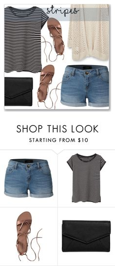 """""""Stripes"""" by cowseatchard ❤ liked on Polyvore featuring LE3NO, MANGO, Canvas by Lands' End, LULUS and Violeta by Mango"""
