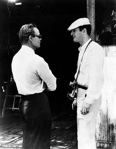 "ek-tahyp: "" Paul Newman and Marlon Brando on the set of The Fugitive Kind "" too much"