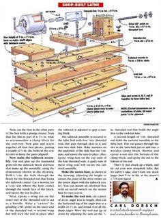 #2084 DIY Wood Lathe - Lathe