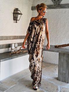 Satin Maxi Dress Kaftan   Summer Kaftan   Asymmetric Plus Size Dress    Oversize Loose Dress    25009 8ca8f18c3e