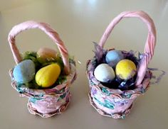 Recylced K-Cup mini Easter Basket party favor tutorial