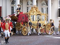 Carrriage: De Gouden Koets used by our King and Queen when the Parliament of the Netherlands is opened every third tuesday in september.