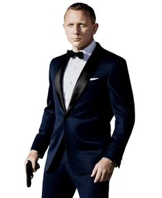 Sale on Midnight blue #JamesBond #Tuxedo in Black lapel collar. Buy #Skyfall007 Tuxedo for Prom and Wedding, better than Rental and Affordable