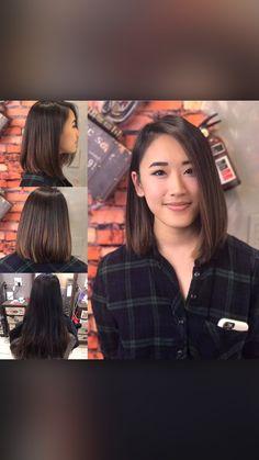 Medium Hair Cuts, Short Hair Cuts, Medium Hair Styles, Short Balayage, Balayage Hair, Growing Out Short Hair Styles, Haircuts Straight Hair, Hair Color Asian, Shot Hair Styles
