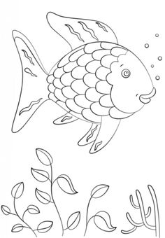 Rainbow Fish Coloring Page Preschool Rainbow Fish Coloring Sheet To Print For Free  Creative .
