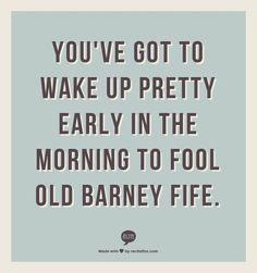 Oh, Barney.