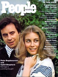 photo | Couples, 1970, Cybill Shepherd Cover, Peter Bogdanovich Cover, When They Were Young, Cybill Shepherd, Peter Bogdanovich