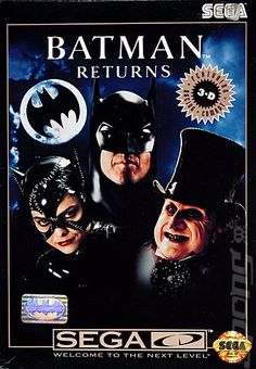 - Batman Returns by Tim Burton - 1992 Sega Cd, Nintendo Sega, Games Box, Epic Games, Playstation, Xbox, History Of Video Games, Arcade Console, Computer Love