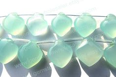 Peruvian Chalcedony Smooth Apple Quality AAA by GemstoneWholesaler