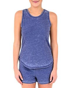 Roudelain Vintage Wash Muscle Tank Women's Blue Depth Medium