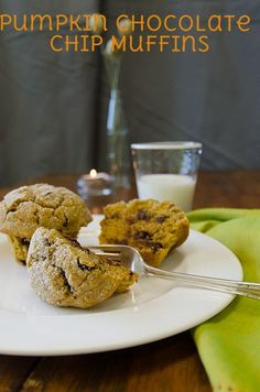 We are loving these gluten free Chocolate Chip Pumpkin Muffins from our test ktichen.
