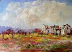 oil on canvas x in RSA: Chicken Painting, South African Art, Canvas Board, Free Range, Painting Videos, Beautiful Paintings, Cottages, Photo S, Oil On Canvas