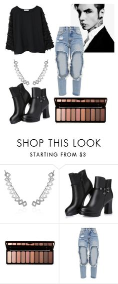"""Andy Black"" by soundlessfob ❤ liked on Polyvore featuring Forever 21 and MANGO"