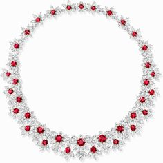14 Over-the-Top Gifts That Are Worth the Splurge Photos Ruby And Diamond Necklace, Diamond Tennis Necklace, Ruby Necklace, Cluster Necklace, Ruby Jewelry, Fine Jewelry, Diamond Necklaces, Necklace Set, Jewelry