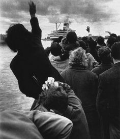 sailing of the cristoforo colombo, genoa, 1959 © stefano robino, from eyes wide open! 100 years of leica photography » view similar photos: bert hardy's goodbye | robert doisneau's love and barbed wire | cecil beaton's the letter | enzo sellerio's...