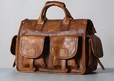 ebd9d1cdf75a Handmade Genuine Leather Vintage Brown Mens Travel Bag Cool Messenger –  iwalletsmen Mens Travel Bag