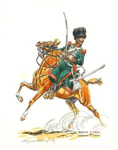 SOLDIERS- Leliepvre: NAP- France: Italian Chasseurs a Cheval, 1812, by Eugene Leliepvre.