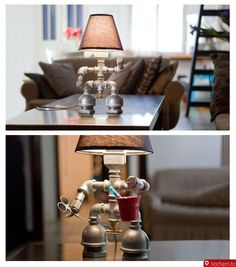 pipe/robot lamp- Jayden would love this!