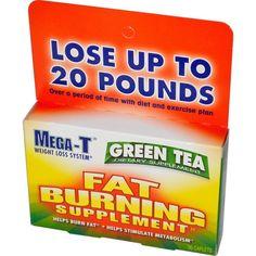 Mega-T, Green Tea, Fat Burning Supplement, 30 Caplets