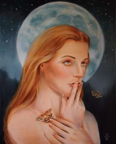 """Painting by Marsha Bowers/Zulim Bowers Designs Oil on canvas,  24""""x30"""" The Moon and The Stars"""