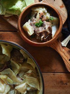 Fårikål -- Norwegian lamb + cabbage stew, via North Wild Kitchen Lamb Recipes, Cookbook Recipes, Clean Recipes, Cooking Recipes, Kitchen Recipes, Yummy Recipes, Recipies, Winter Stew Recipe, Winter Recipes