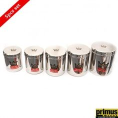 Primus Steel Crown Storage Canister Set of 5 Pcs Buy Kitchen, Kitchen Items, Kitchen Utensils, Kitchen Appliances, Kitchen Storage Containers, Storage Canisters, Stainless Steel Containers, Storage Sets, Canister Sets