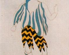 "1917 Picasso ..costume design for ballet ""Tricorne"""
