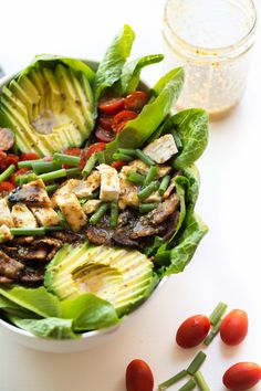 Paleo Honey Mustard Chicken, Bacon & Avocado Salad - Tastes Lovely