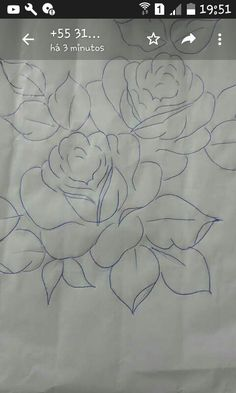 Flower Line Drawings, Flower Sketches, Stencil Patterns, Painting Patterns, Basic Painting, Flower Outline, Flower Coloring Pages, Arte Popular, Flower Tattoo Designs