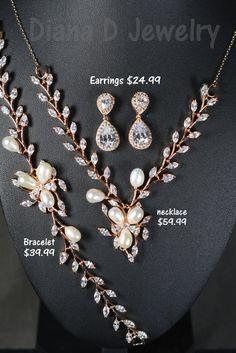 Rose gold Wedding Jewelry Bridesmaid Gift Bridesmaid Jewelry Bridal Jewelry tear Drop Earrings Cubic Zirconia dangle Earring bridesmaid gift