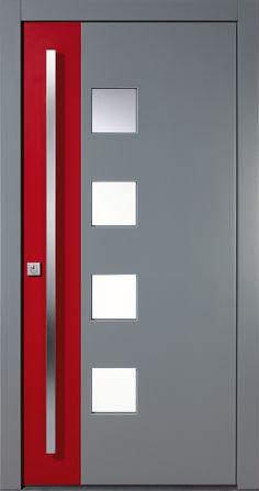 Piene Haustüre Dortmund in rot / grau. Spezielle Türmodelle für den…