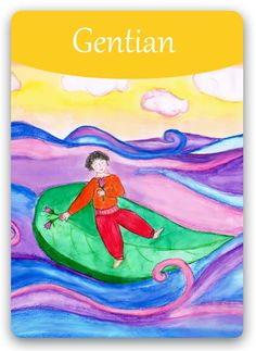 Bach Flower Cards [Gentian] - For people who are eternal pessimists, always… Bach Flowers, Online Cards, Flowers Online, Oracle Cards, Illustrations, Flower Cards, Flower Pots, Chile, Reiki