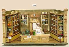 German dollhouse shop 1800's