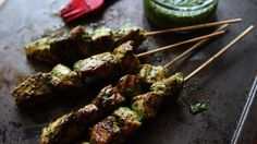 chimichurri chicken skewers - Argentinian flavours