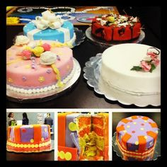 Cakes I made for a college art project